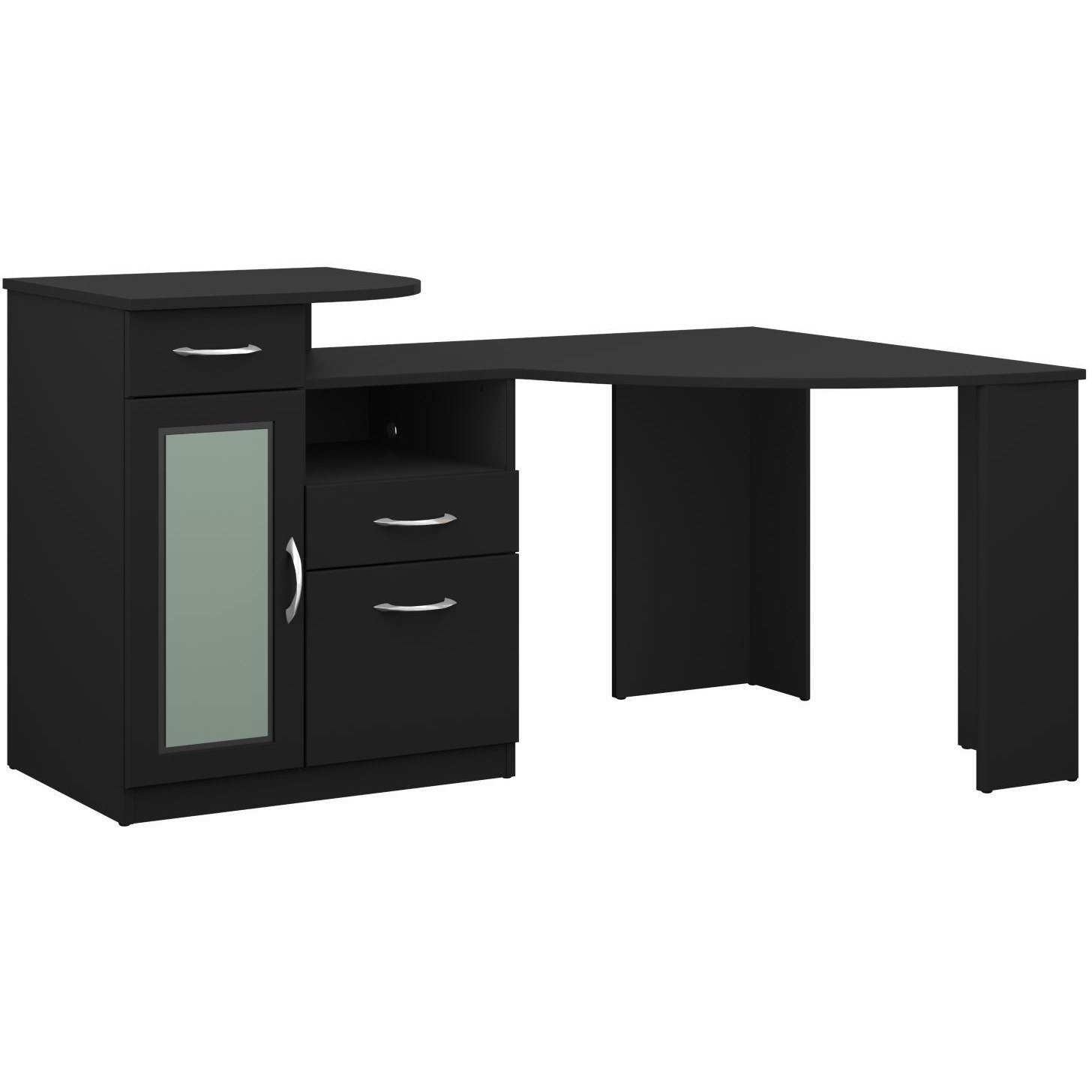 Black Corner Home Office Computer Desk - Vantage