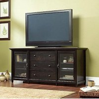 70 Inch Black TV Stand - Edge Water