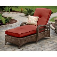 Agio pinehurst chaise lounge rc willey furniture store for Agio wicker chaise lounge