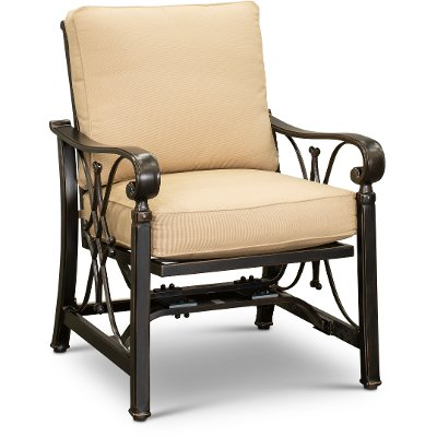 Clearance Spring Rocker Outdoor Patio Chair   Seville