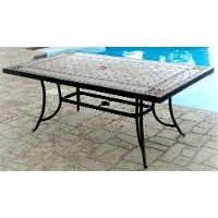Agio 40 Inch x 72 Inch Outdoor Patio Porcelain Table - Willowbrook