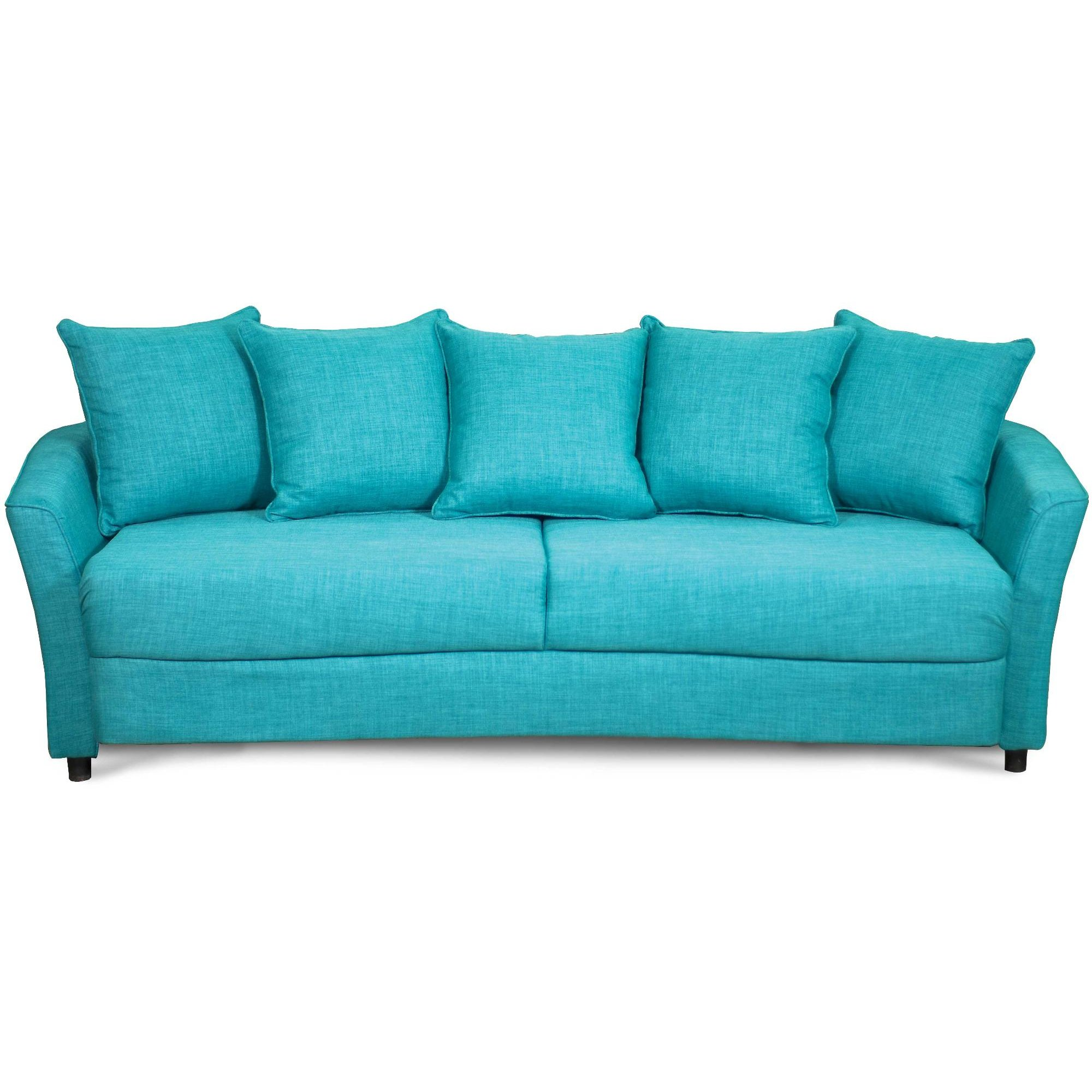 ... Casual Contemporary Turquoise Sofa Bed - Marana