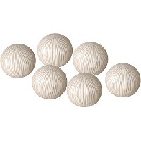 4 Inch White Textured Ball