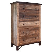 Rustic Antique Brown Chest of Drawers - Antique