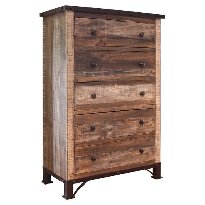 Rustic Antique Brown Chest Of Drawers Antique