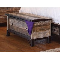 Rustic Brown Storage Trunk - Antique