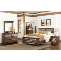 Weathered Brown 4-Piece Queen Bedroom Set - Weatherly