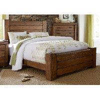 Driftwood Pine Rustic Contemporary King Size Bed - Maverick