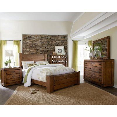 Driftwood Pine 6 Piece Queen Bedroom Set Maverick
