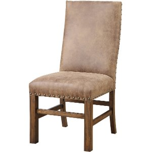 ... Brown Upholstered Dining Room Chair   Chambers Creek Collection