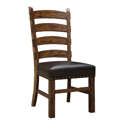 Brown Upholstered Ladder Back Dining Room Chair - Chambers Creek