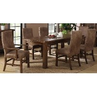 Brown 5 Piece Dining Set with Upholstered Chairs - Chambers Creek