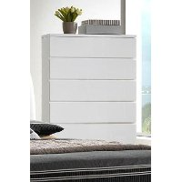 White Modern Chest of Drawers - Avery