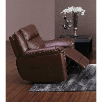 Brown Leather-Match Swivel Glider Recliner - K-Motion