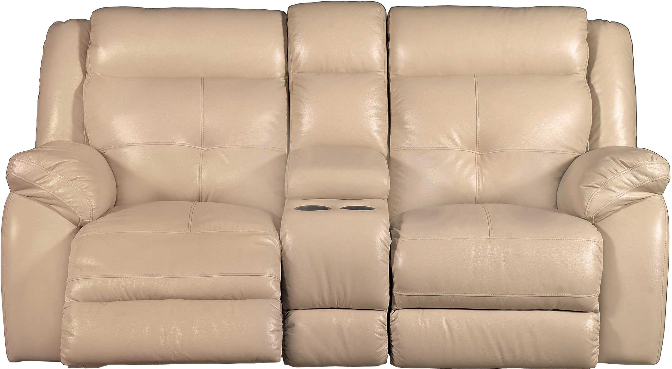 Tan Leather Match Power Reclining Sofa Manual Gliding Loveseat Nuveau Rc Willey Furniture