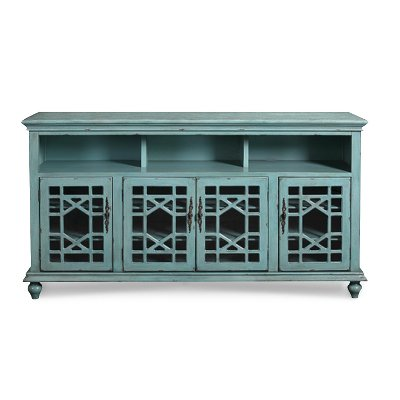 72 Inch Rustic Blue TV Stand