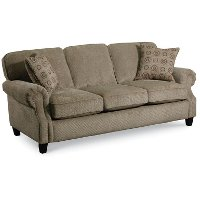 """Emerson 86"""" Taupe Upholstered Queen Sofa Sleeper"""