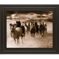 Running Horses Framed Wall Art
