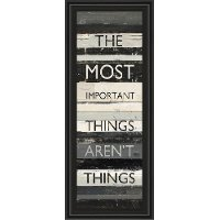 The Most Important Things Vertical Framed Wall Art