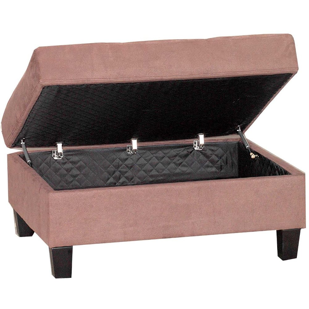 Mahogany Casual Contemporary Storage Ottoman   Marquis | RC Willey  Furniture Store