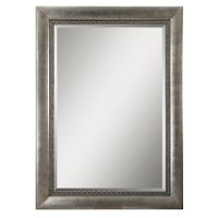 Antique Silver Leaf Floor Mirror