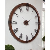 Round Hammered Copper 60 Inch Wall Clock