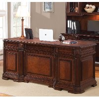 Cherry Wood Executive Computer Desk - Westchester