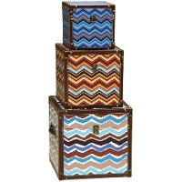 Medium Multi Color Chevron Trunk