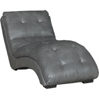 Contemporary Seal Gray Chaise - Kadyn
