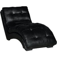 Classic Contemporary Black Chaise - Kadyn
