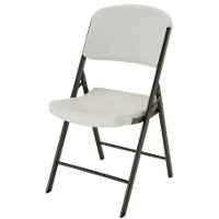 42803 Lifetime 4-Pack Almond Folding Chairs