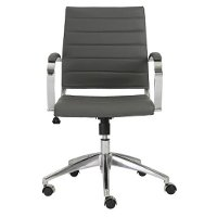 Gray Low-Back Office Chair - Axel