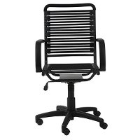 Black Bungee Cord High-Back Office Chair -Bungie