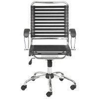 Black Bungee Cord High-Back Office Chair - Bungie