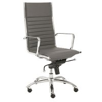 Gray High-Back Office Chair - Dirk