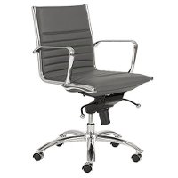 Gray Low-Back Office Chair - Dirk