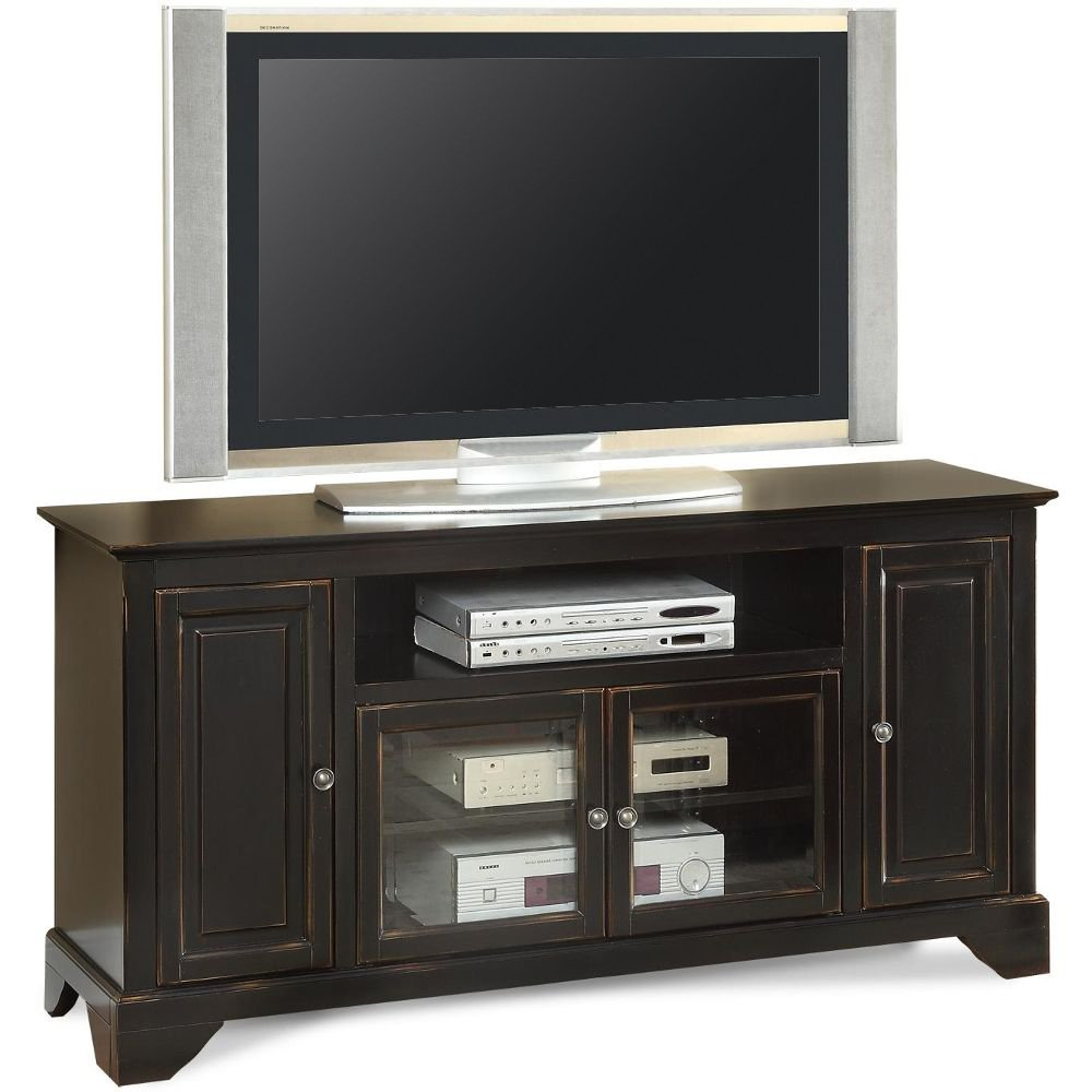 60 inch distressed black tv stand river city