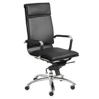 Black High-Back Office Chair - Gunar