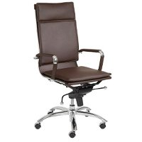 Brown High-Back Office Chair - Gunar