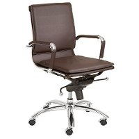 Brown Low-Back Office Chair - Gunar