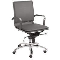 Gray Low-Back Office Chair - Gunar