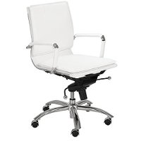White Low-Back Office Chair - Gunar