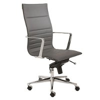 Gray High-Back Office Chair - Kyler