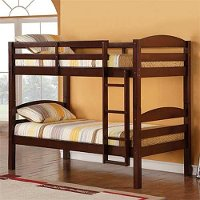 Contemporary Brown Twin-over-Twin Bunk Bed - Carolina