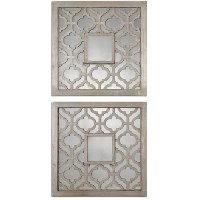Assorted Antique Silver Square Mirror