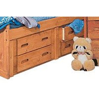 Rustic Cinnamon 4-Drawer Under-Bed Dresser - Palomino