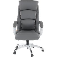 Gray LeatherPlus Executive Office Chair