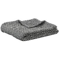 Twin Nadu Charcoal and Natural Throw Blanket