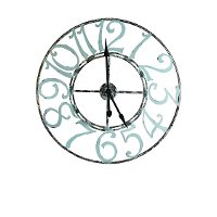 Spa Blue Metal Wall Clock