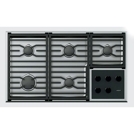 Wolf 36 Inch Transitional Gas Cooktop